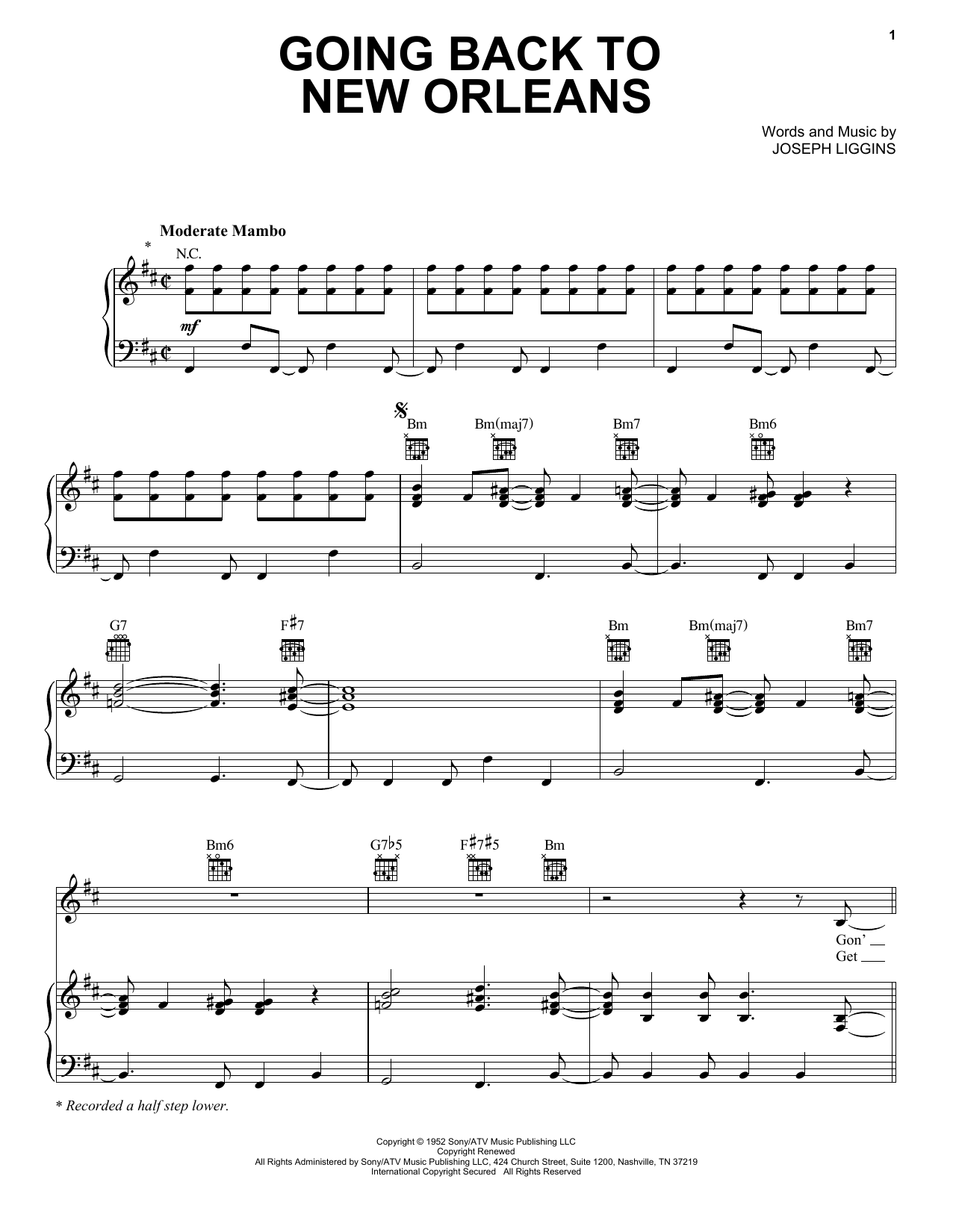 New orleans jazz piano sheet music