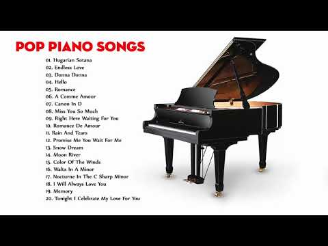 Best popular songs for piano