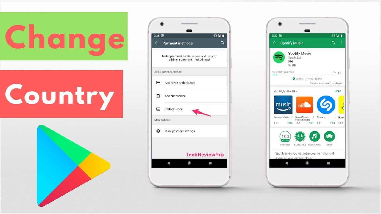 How to change country in android