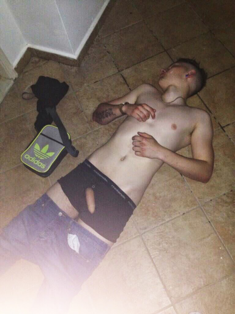 Picture of passed out naked